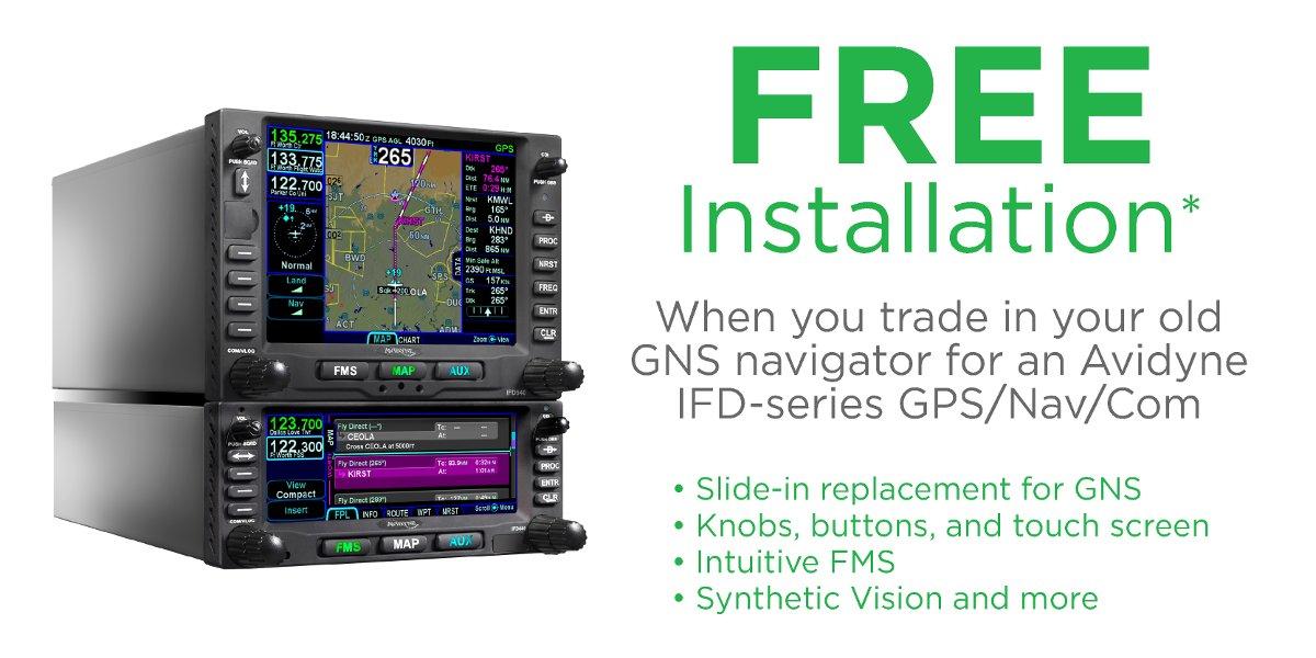 Avidyne Free Installation Promotion
