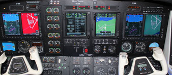 duke b60 aircraft panel picture