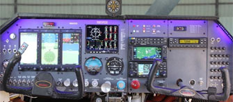 mooney M20F aircraft panel picture