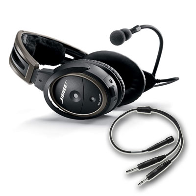 Click to view A20® Aviation Headset + Flex Cable (Installed, No Bluetooth) full image