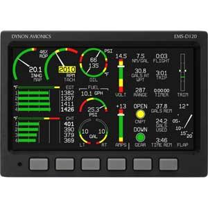Dynon Avionics Ems D120 Super Bright Engine Monitoring