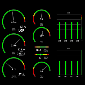 Dynon Avionics Skyview Certified Engine Monitor Package