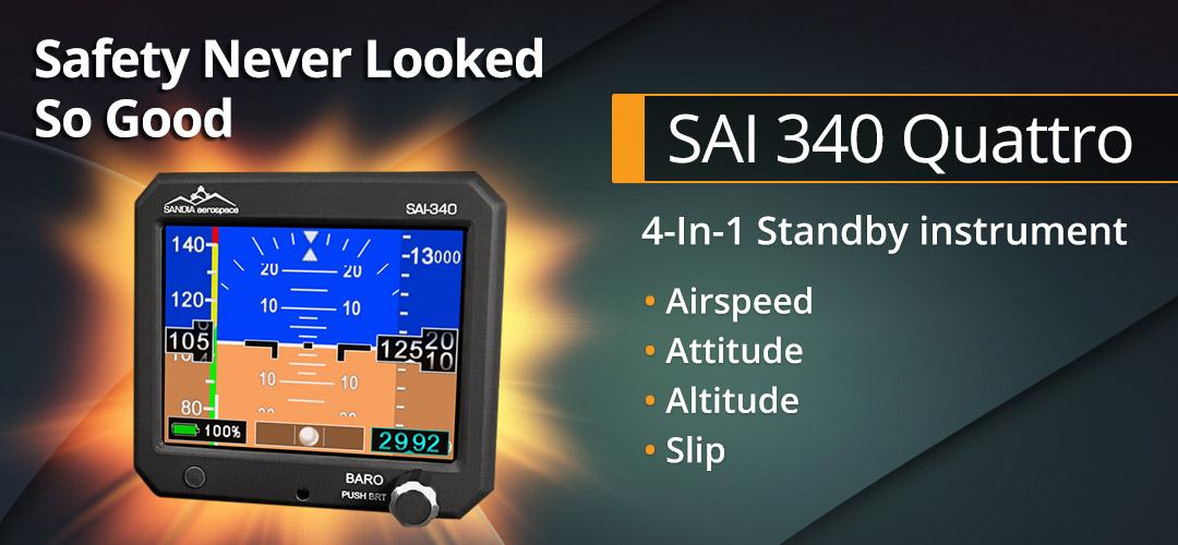 Sandia Aerospace Receives TSO Approval for the SAI340 Quattro