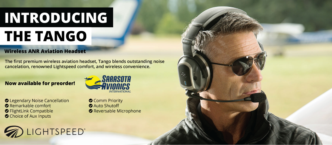 Lightspeed Announces The Tango - Wireless Aviation Headset