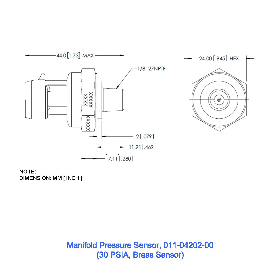 Click to view Manifold Pressure Sensor, 30 PSIA full image
